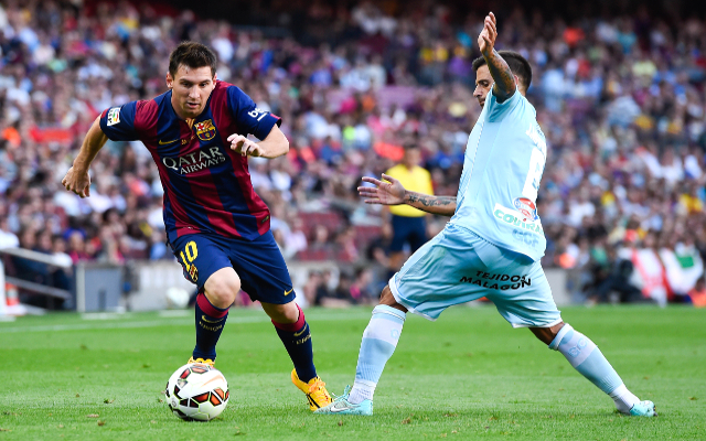 <> at Camp Nou on September 27, 2014 in Barcelona, Spain.